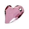 Devoted 2U Heart 27mm Antique Pink Crystal